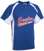 Line Drive Two Button Baseball Jersey